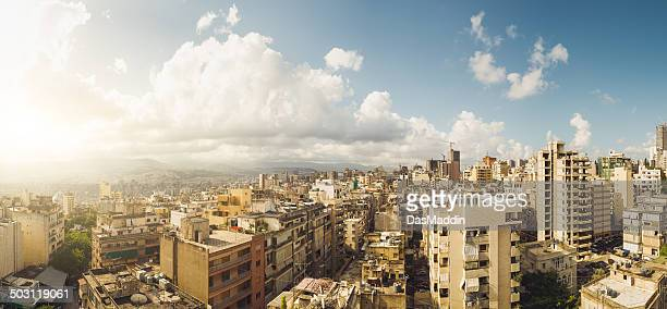 Beautiful panoramic view over Beirut