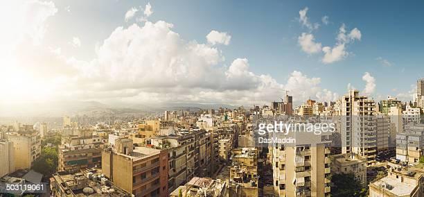 Beautiful panoramic view over Beirut