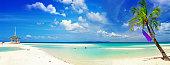 Beautiful Panorama Of Tropical Beach.