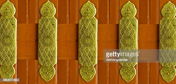 Beautiful patterns on a brass plate : Bildbanksbilder