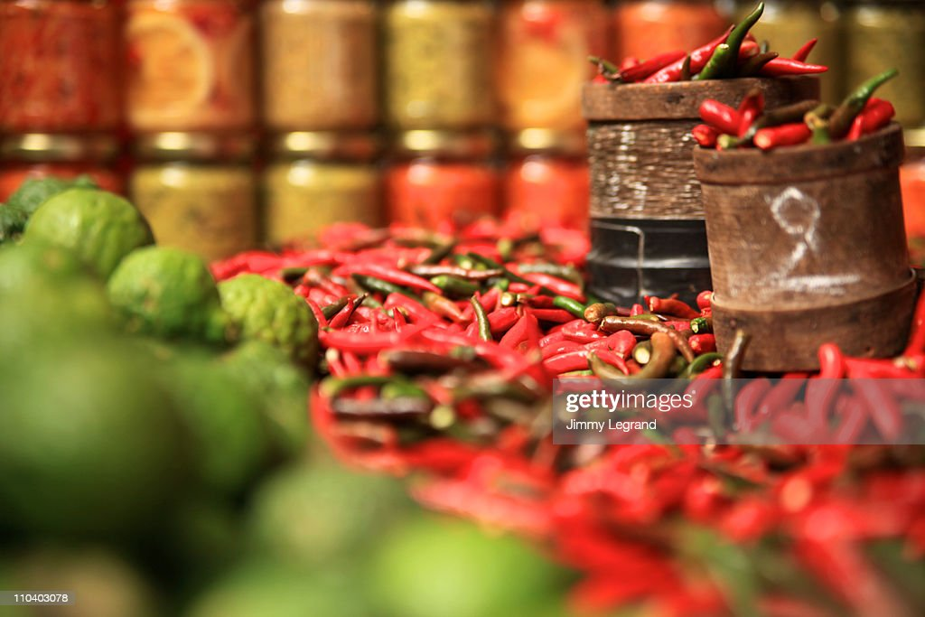 Beautiful peppers : Stock Photo