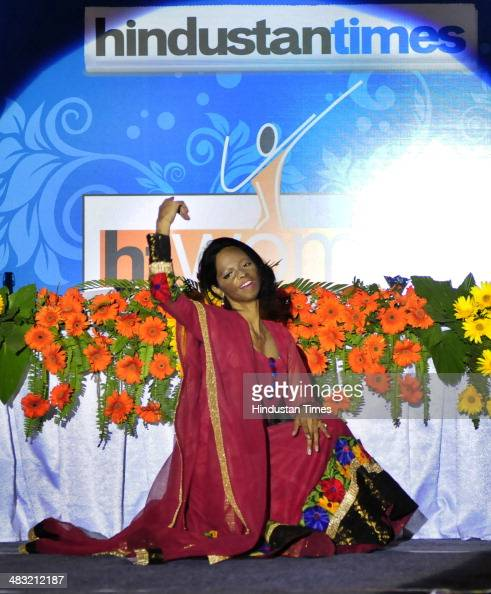 A beautiful performance by acid attack survivor and the special guest for the event Laxmi during HT WOMEN 2014 award ceremony on April 3 2014 in...