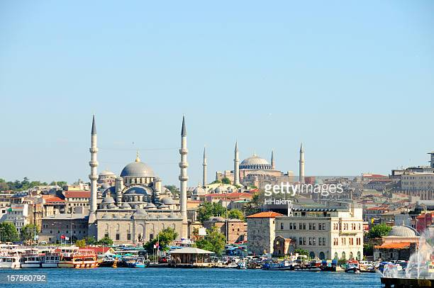 Beautiful photo of Istanbul City under a clear blue sky