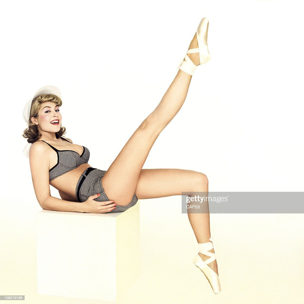 Beautiful Pin-Up Girl In A Bathing Suit