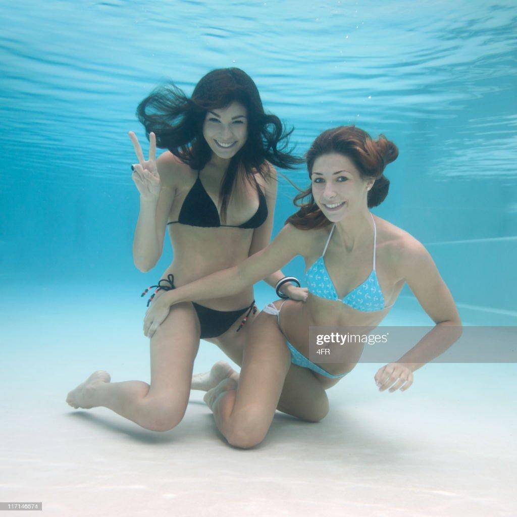 Beautiful Pool Mermaids - Underwater Fun (XL) : Stock Photo