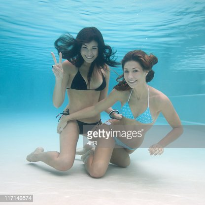 Beautiful Pool Mermaids - Underwater Fun (XL) : Stock Photo