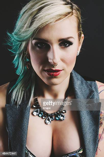 Beautiful portrait of woman with alternetive look