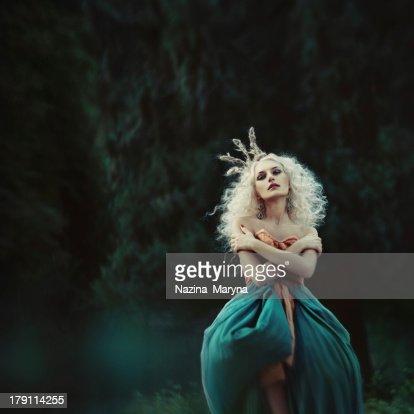 Beautiful princess in garden