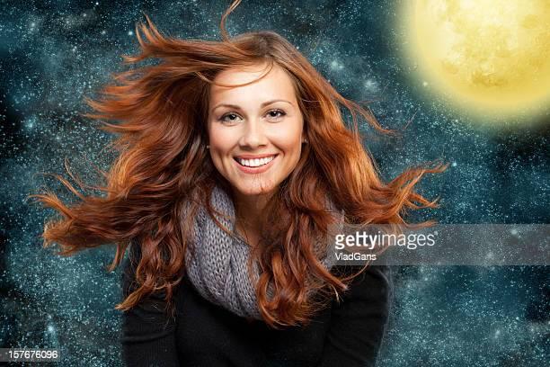 Belle fille Cheveux roux