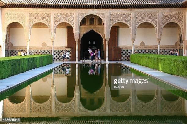 beautiful reflection Alhambra Granada
