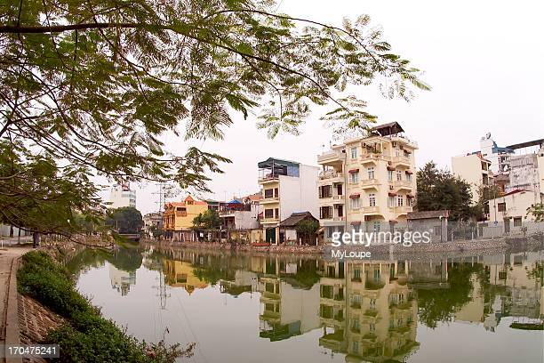 Beautiful Reflection in French Area of Hanoi Vietnam