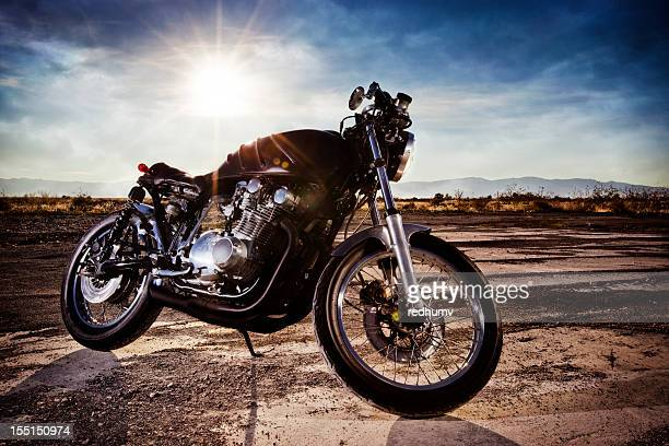 Beautiful Retro Cafe Racer Motorcycle