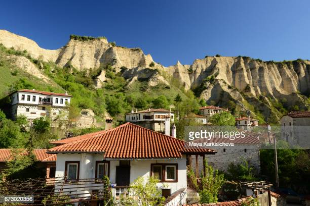 Beautiful rocky formations over an authentic Bulgarian town