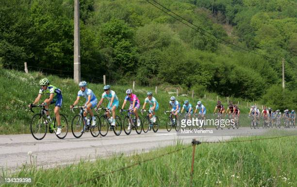 Beautiful scenery near the village of Marcourt during the 2007 Liege Bastogne Liege Pro Tour cycling event in Ans Belgium on April 29 2007