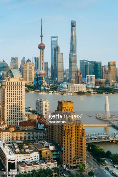 beautiful scenery on both sides of the Huangpu River.
