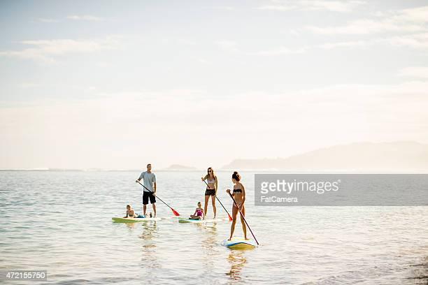 Superbes paysages en paddleboard