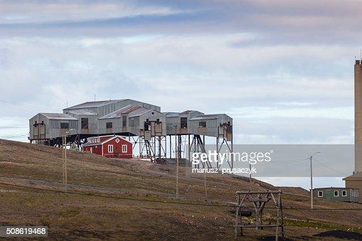 Beautiful scenic view in Svalbard, Norway. : Stock Photo