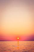 Beautiful sea sunset. Trieste, Italy, Europe