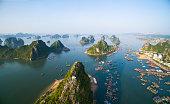 Beautiful seascape in Halong bay, Vietnam