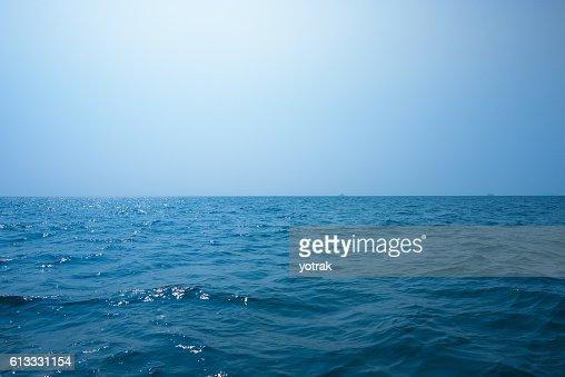 Beautiful seascape under blue sky : Stock Photo