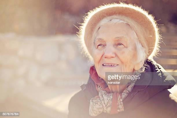 Beautiful Senior Woman Happy Look