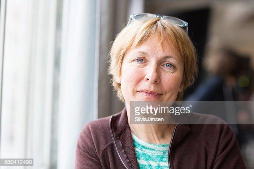 Linda mulher idosa Retrato Felicidade