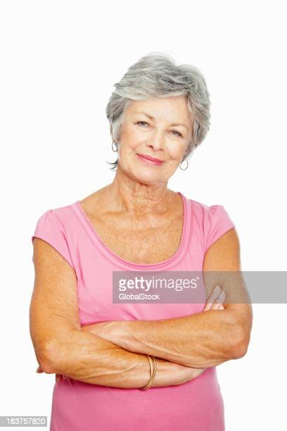 Beautiful senior woman with arms crossed