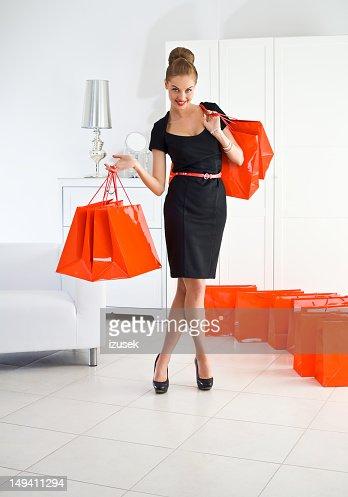Beautiful shopaholic