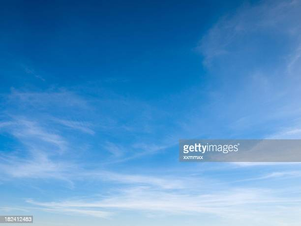 Beautiful sky with white clouds