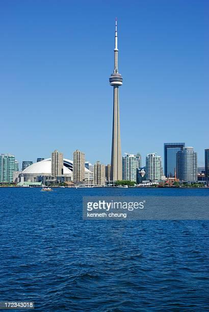 A beautiful skyline of Toronto on a sunny day