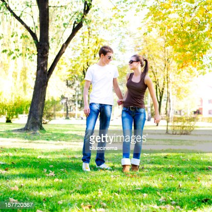 detail photo adult indian couple dating park royalty free image
