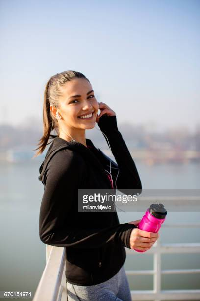 Beautiful smiling sports woman
