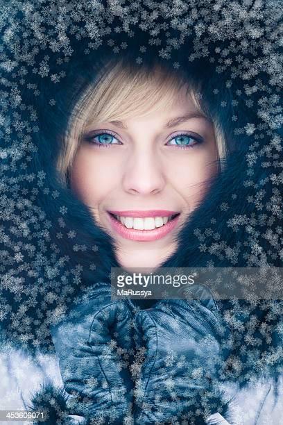 Schöne Schnee Frau