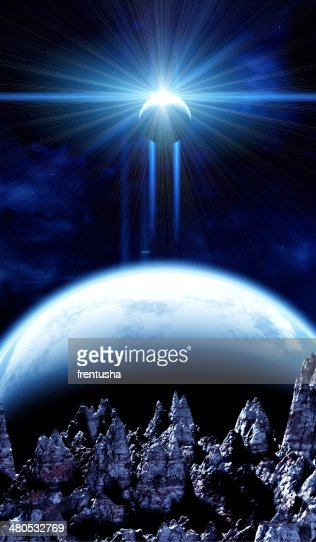 Beautiful space scene : Stockfoto