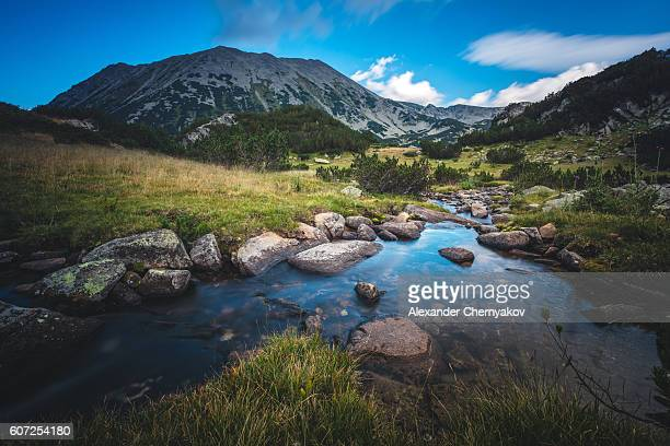 Beautiful stream in a mountain valley