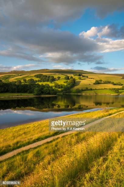 Beautiful summer evening at Ladybower reservoir, Peak District, England