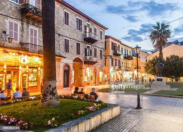 Beautiful summer evening in Nafplio, Greece