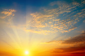 beautiful sun rise and cloudy sky