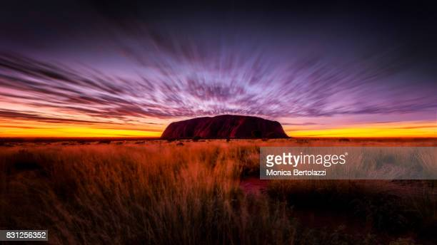A beautiful sunrise in Uluru