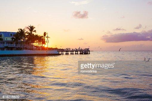 Beautiful sunrise on Key West, Florida, USA : Stockfoto