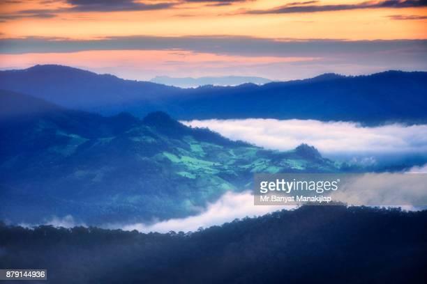 A Beautiful Sunrise On Mountain