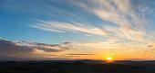 Beautiful sunrise over a landscape