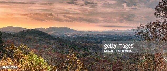 Beautiful sunrise over Blue ridge