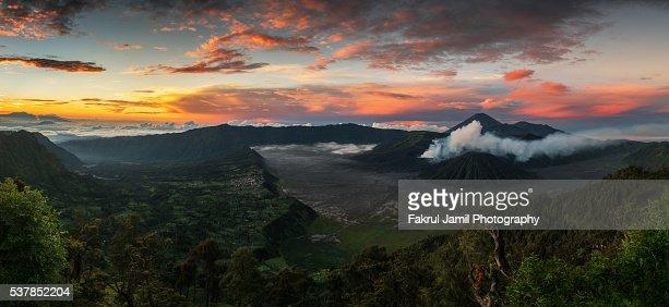 Beautiful Sunrise over Mount Bromo, Indonesia