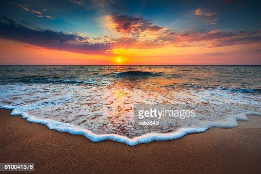 Beautiful sunrise over the sea : Stock Photo