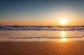 Beautiful sunrise over the sea at summer