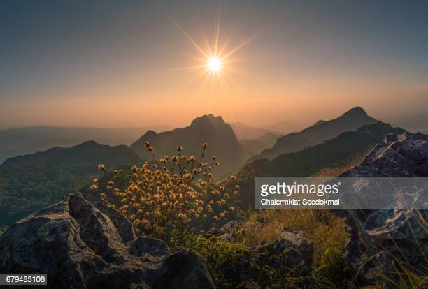 Beautiful sunset at Doi Luang Chiang Dao
