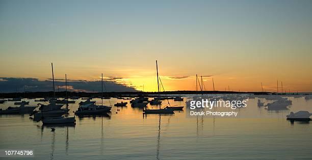 Beautiful sunset at Formentera,Spain