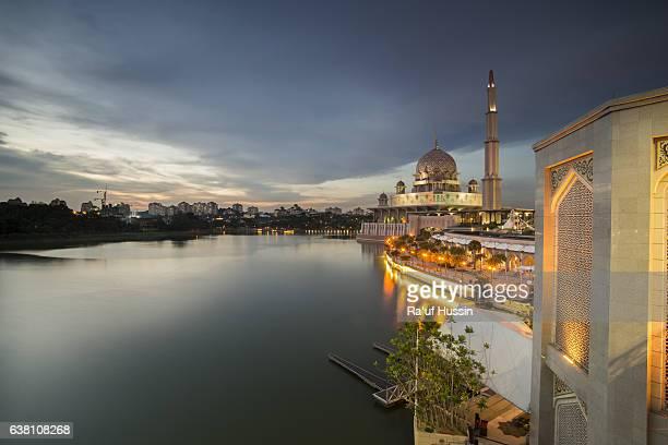 Beautiful sunset At Putra Mosque, Putrajaya Malaysia