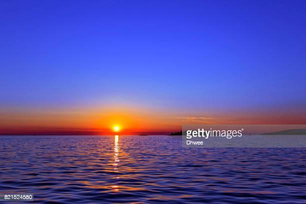 Beautiful Sunset by the Sea